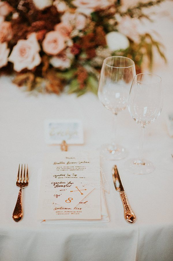 wedding menus - photo by EPlove http://ruffledblog.com/carmel-forest-wedding