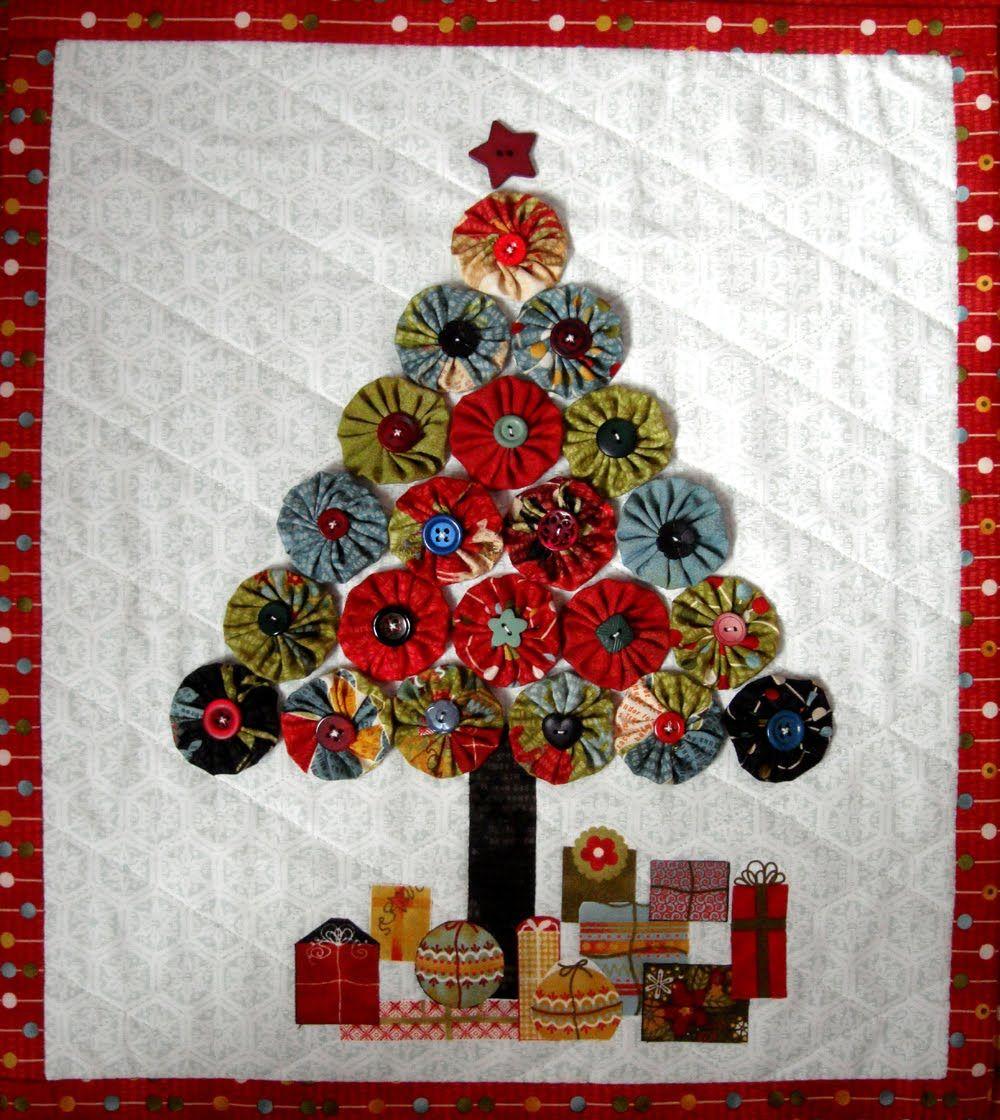 Moda Bake Shop Jovial Christmas Tree Wall Hanging Christmas Wall Hangings Christmas Quilts Christmas Sewing