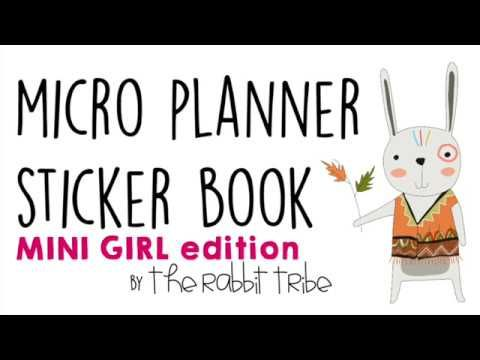 Micro Planner Sticker Book - Mini Girls Edition