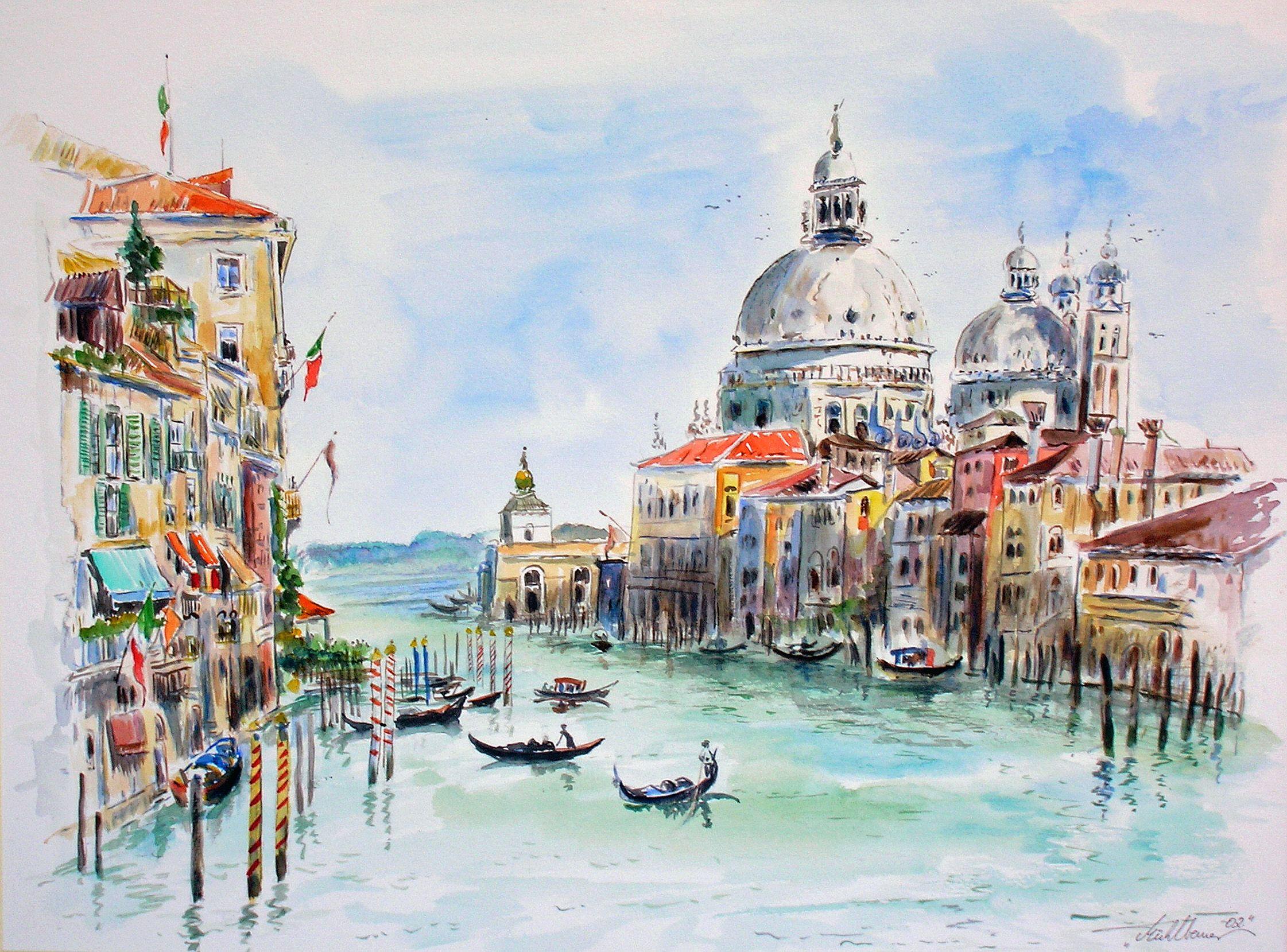 Италия нарисованные картинки