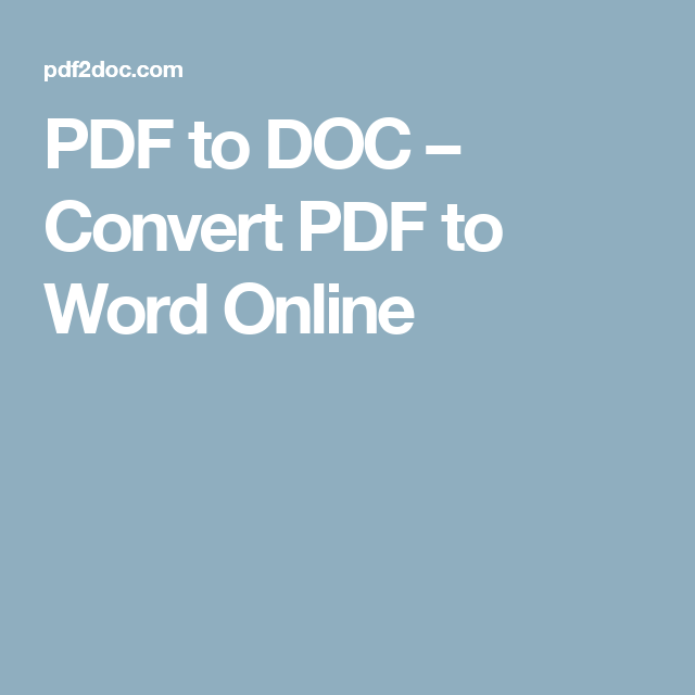 Pdf To Doc Convert Pdf To Word Online Word Online Converter Author Tools
