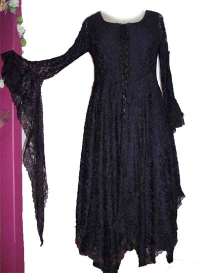 Black Lace Stevie Nicks Style Dress Just Add A Hat Perfect