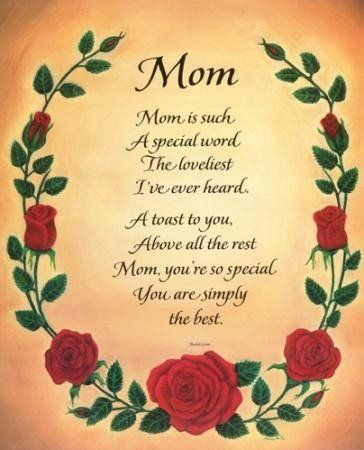 mother day poems | Greet Card: Mothers Day Poems | I LOVE MY MOM ...