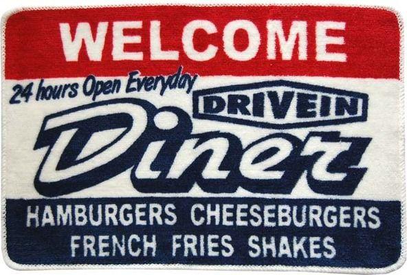 ♪アメリカ雑貨・フロアマット・DINER♪