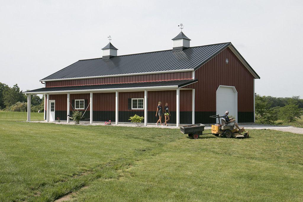 Morton Buildings hobby garage in Hicksville Ohio