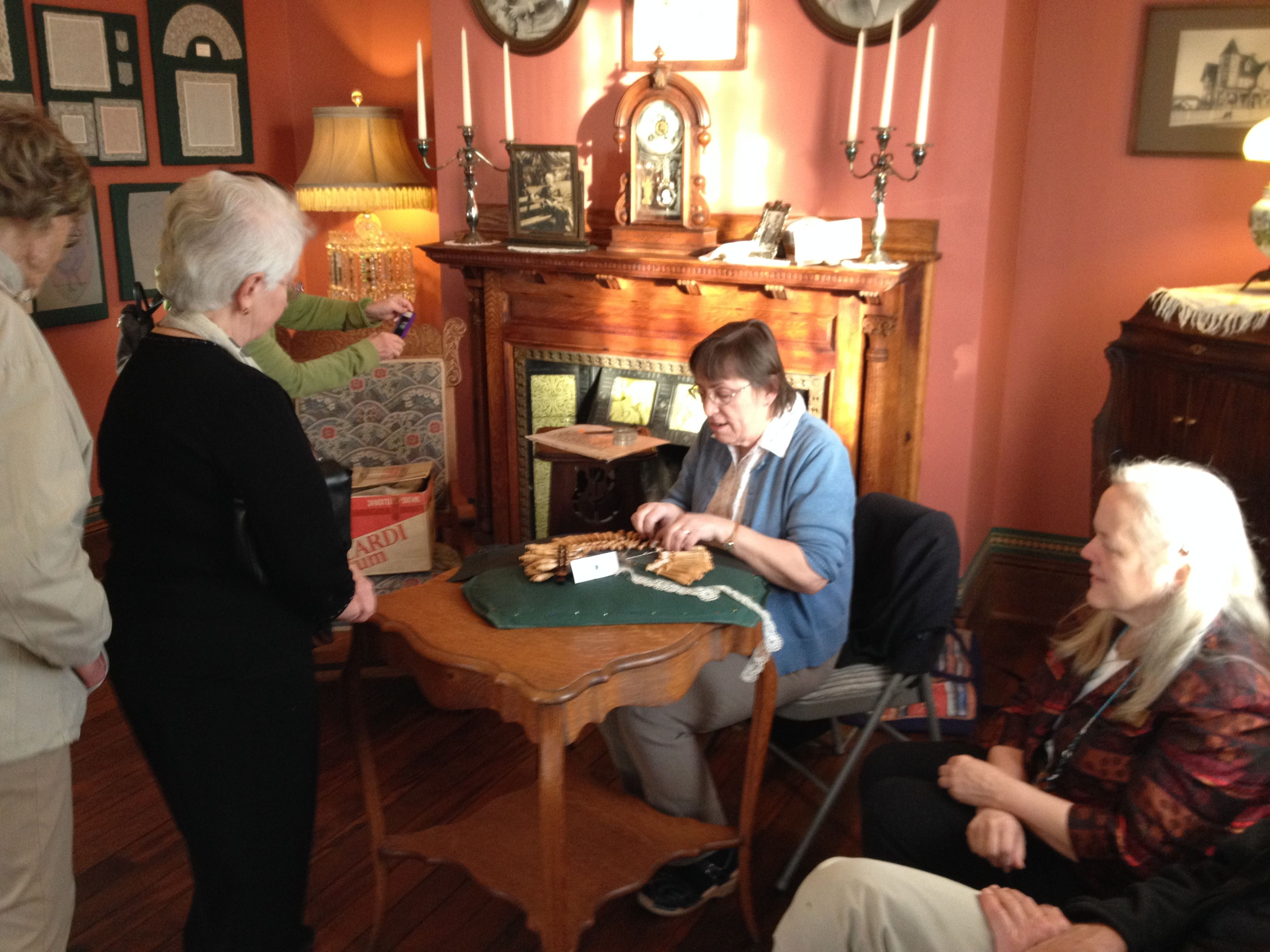 Bobbin Lace Demonstration from March event.
