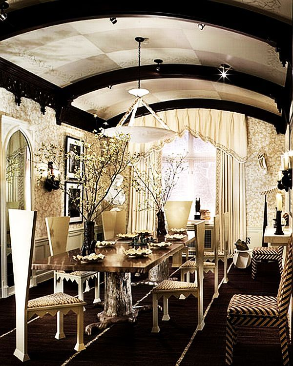 Modern Gothic Inspired Dining Room