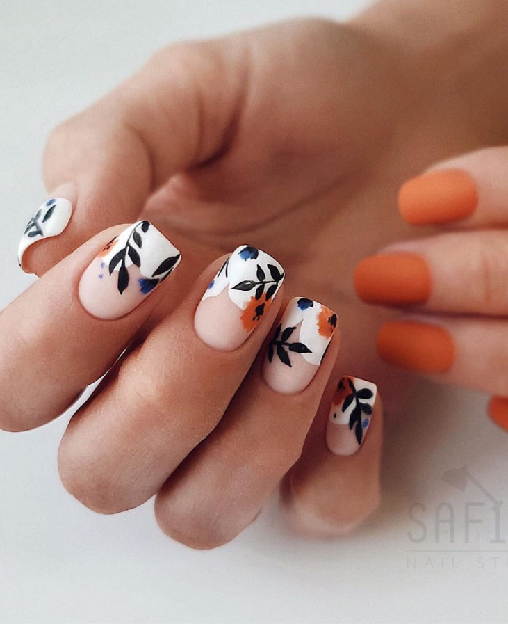 42 Classy Matte Natural Short Nails Design For Fall And Autumn Elegan Autumn Classy In 2020 Classy Nails Nail Designs Pretty Acrylic Nails