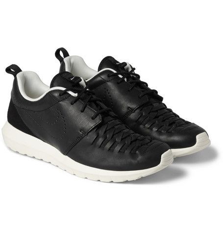 free shipping bb4fa 1fe49 Nike Roshe Run Woven Leather Sneakers