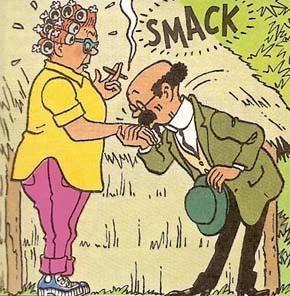 Peggy Alcazar and the smitten Professor Calculus! Tintin and The Picaros •  Tintin, Herge et moi • riawati | Tintin, Old school ink, Graphic novel
