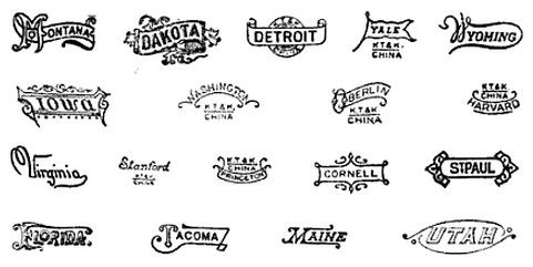1920s Porcelain Brands The Following Marks Have Been Used By The