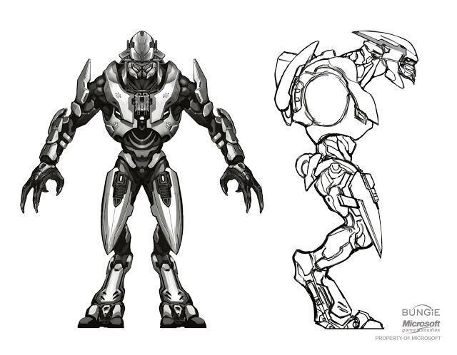 Covenant Elite development for Halo Reach Posted by Isaac Hannaford