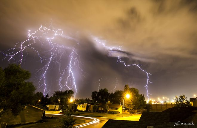 Saskatoon Lightning storm by Jeff Wizniak