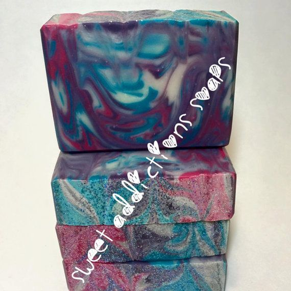 Sweet Black Raspberry Vanilla soap by SweetAddictionsSoaps on Etsy