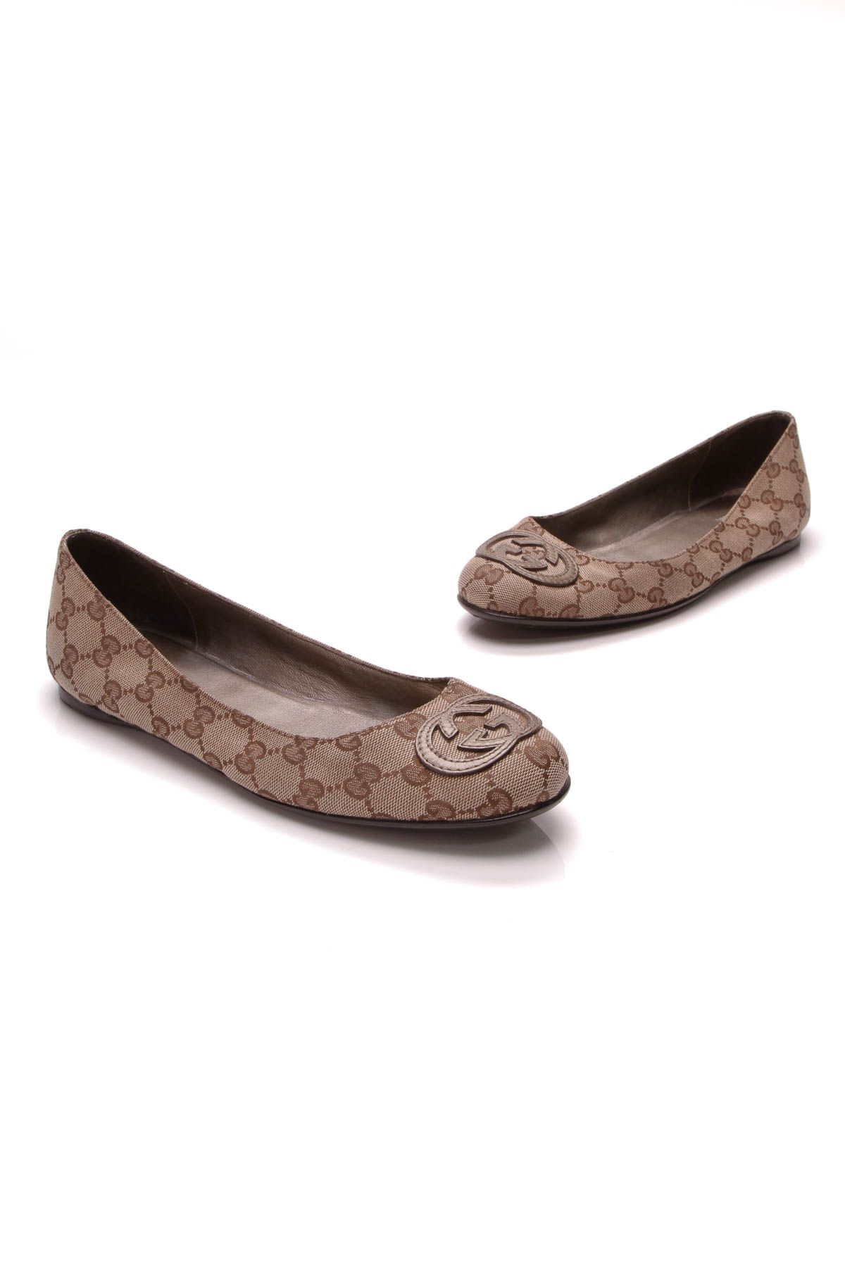 fada0f380 GG Ballerina Flats - Signature Canvas Size 38.5 in 2019