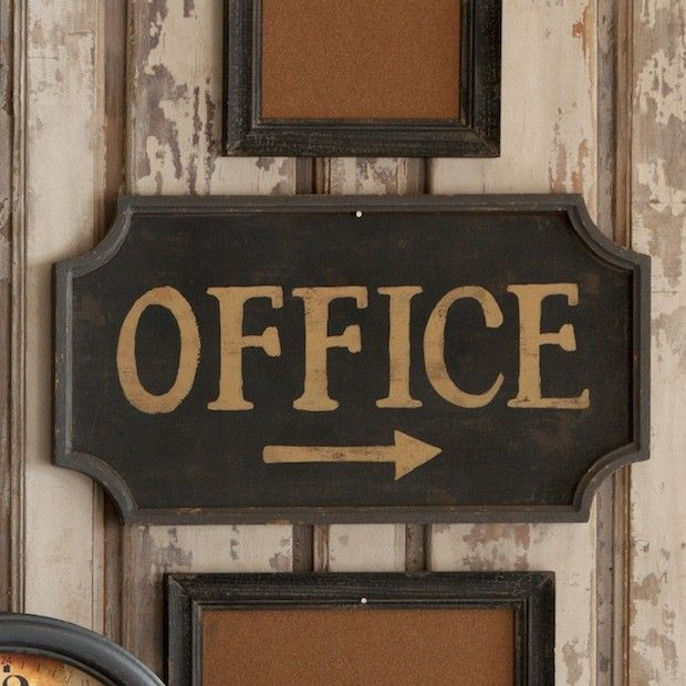 Office Wall Signs Decor Vintage Door Sign