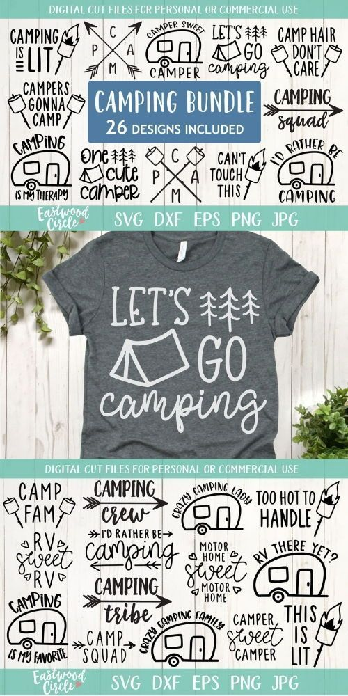 Camping SVG Bundle with FREE commercial use license included!
