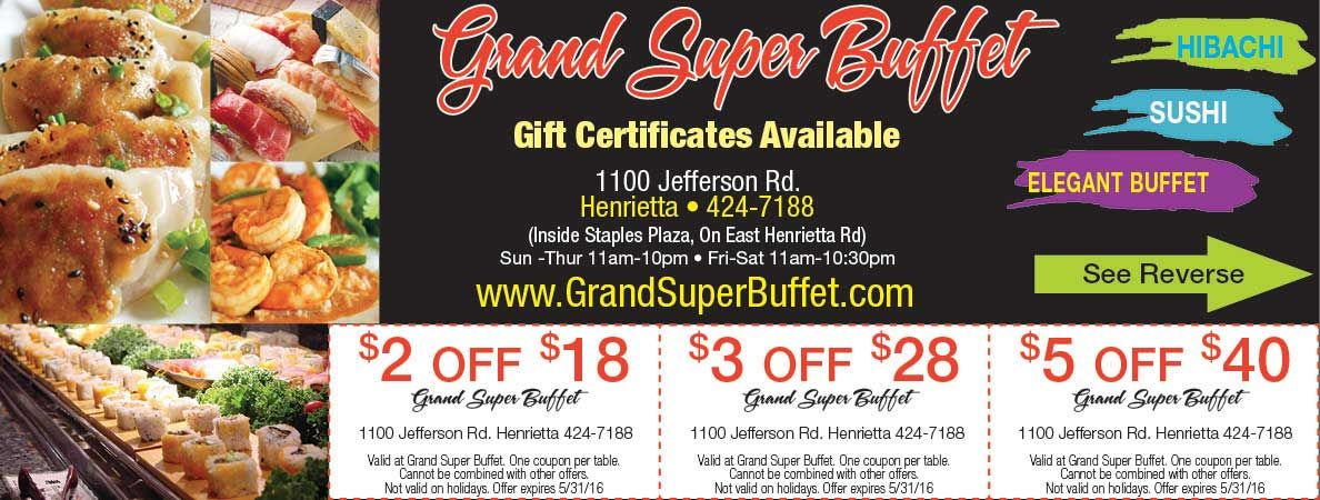 grand super buffet with multiple coupons to save on your buffet rh pinterest com super 99 buffet coupons super 99 buffet coupons