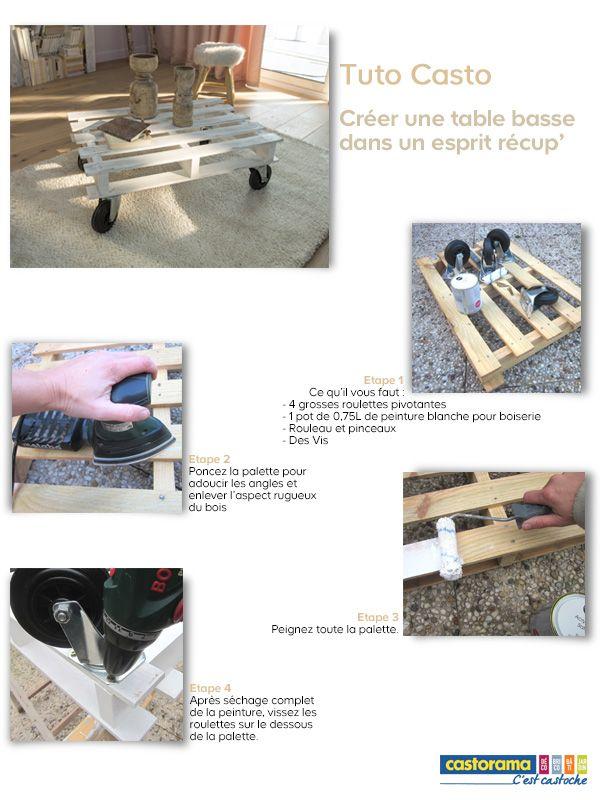 Cr er une table basse dans un esprit r cup 39 palette maison bricolage et id es pour la maison - Creer une table basse ...