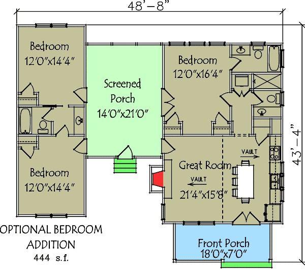 plan 92318mx: 3 bedroom dog trot house plan   dog trot house