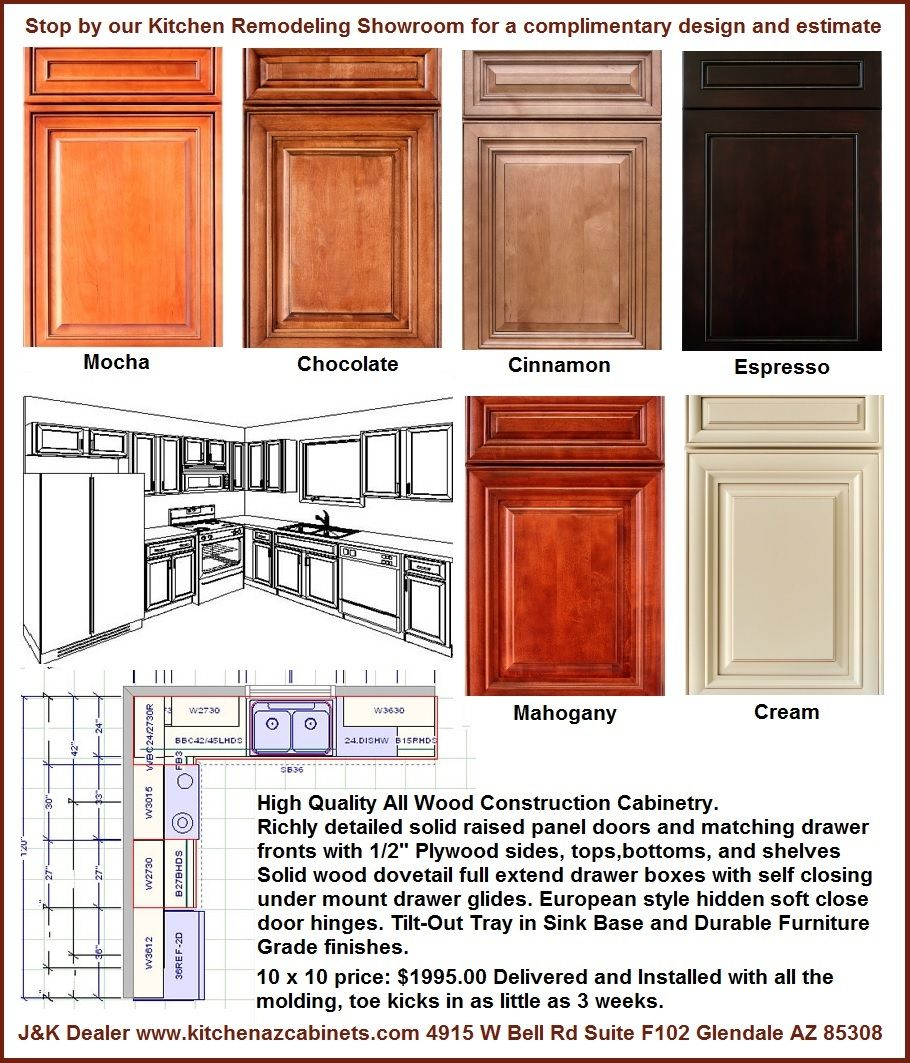 Kitchen And Bathroom Remodeling Contractors: All Wood Kitchen Cabinets In Phoenix $1995 Installed (With