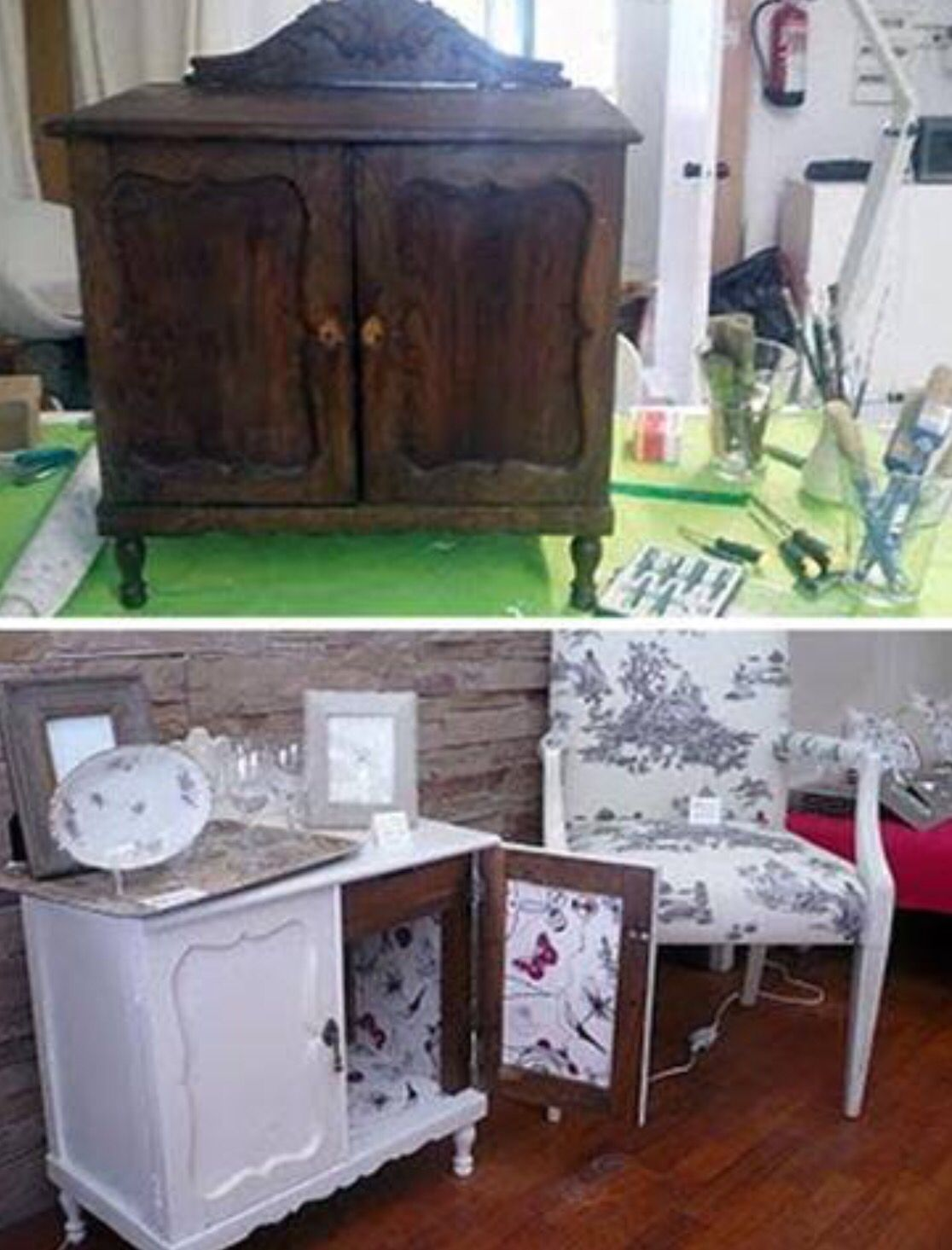 Before Pintar Muebles Pinterest Muebles Reciclados  # Muebles Noticias