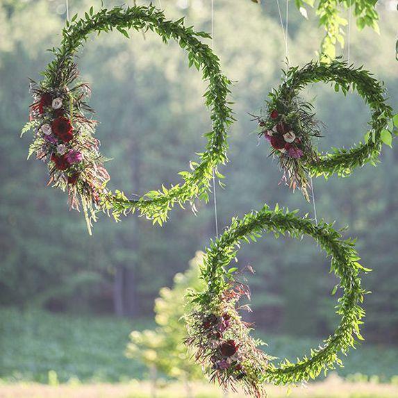 Hula Hoops Floral Decor Macmay Farm Wedding Wedding