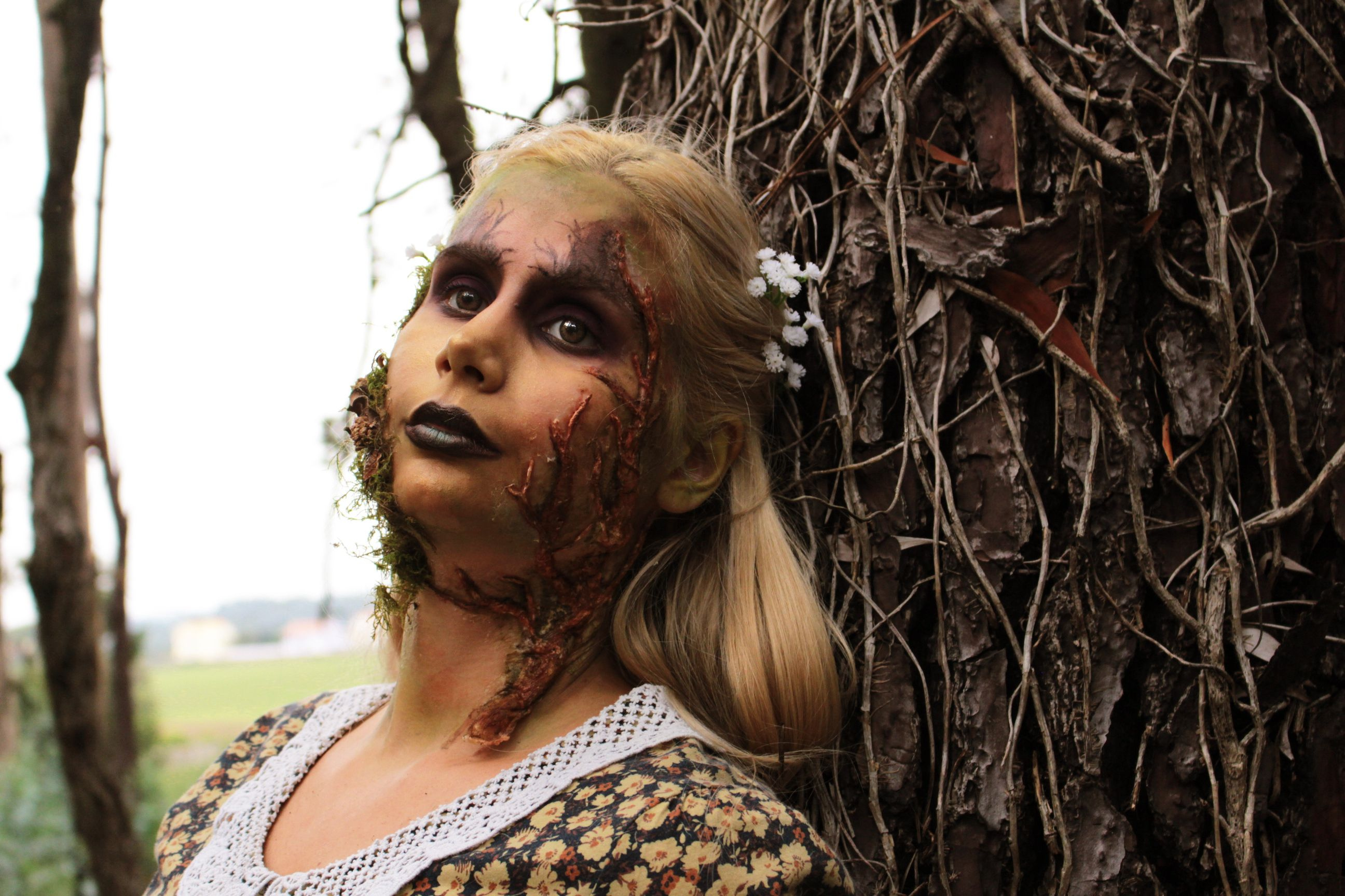 Rooted Halloween Tree Forest Makeup Mua