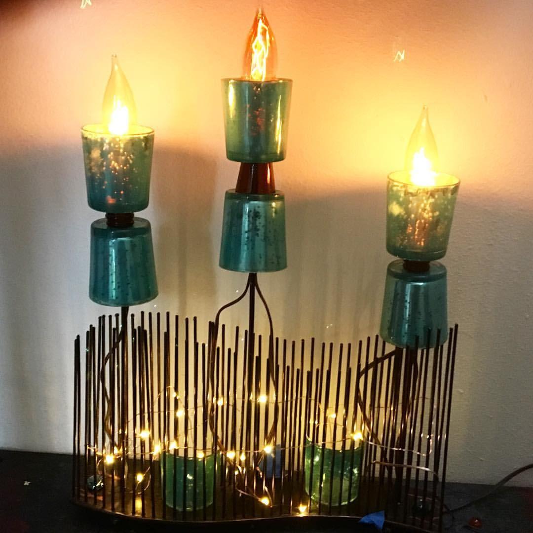 Reclaimed Wave Sculpture Lamp a unique sculptural lamp