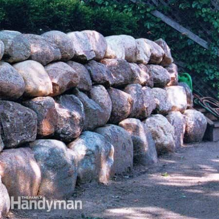 Using Large Boulders In Landscaping Google Search Retaining Wall Landscaping On A Hill Concrete Block Retaining Wall