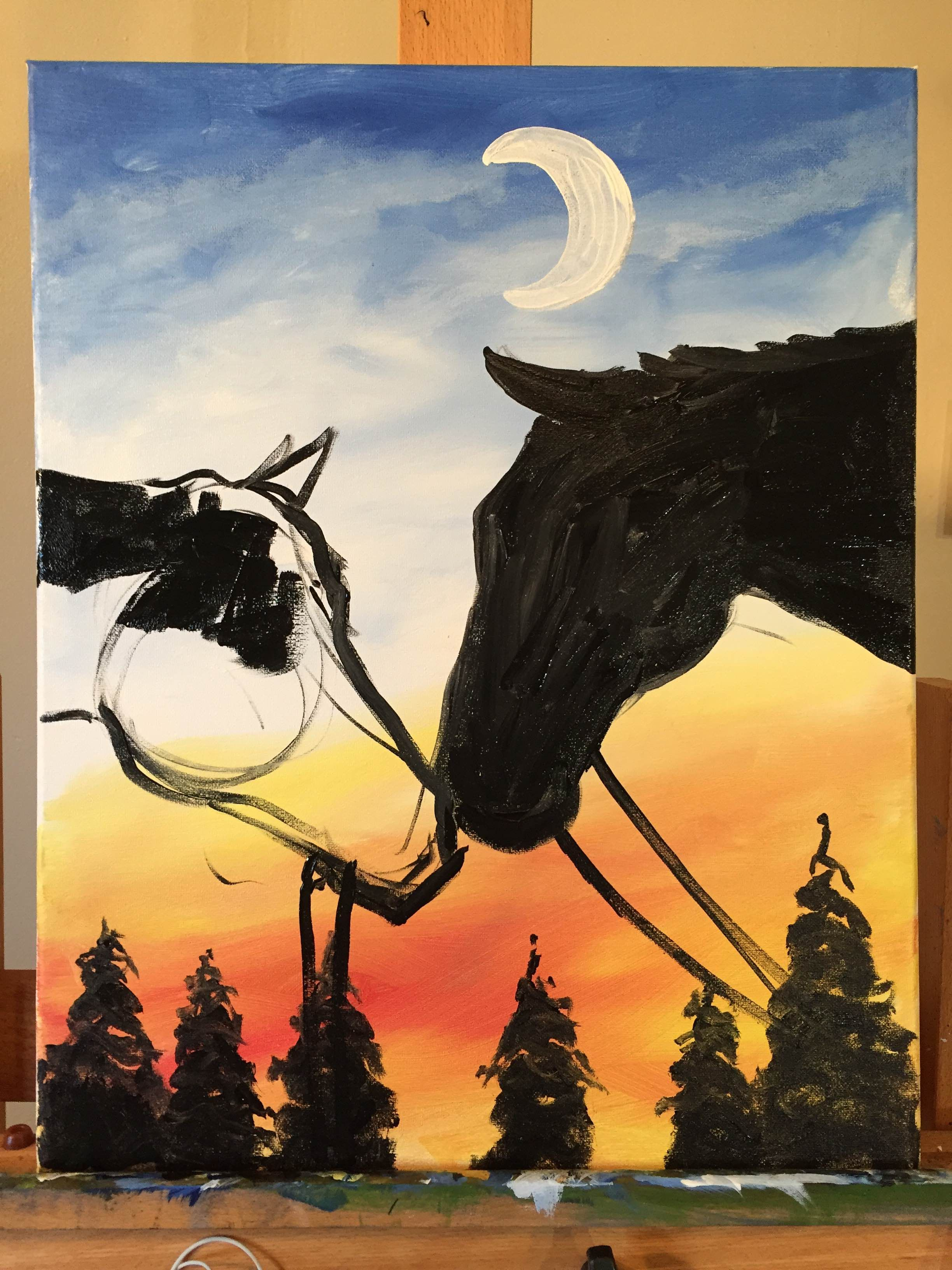 Good For Beginners Canvas Art Painting Painting Art Projects Horse Paintings Acrylic