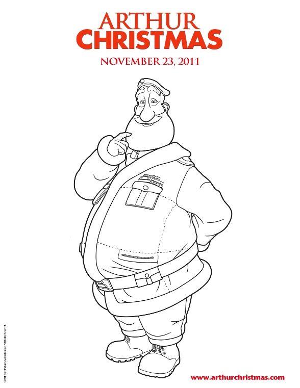 coloring page Arthur Christmas - Arthur Christmas | Printables ...