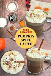 Keto Low-Carb Copycat Starbuck's Pumpkin Spice Latte is a healthy coffee drink... - Keto - #Coffee #Copycat #Drink #Healthy #Keto #LATTE #lowcarb #Pumpkin #Spice #Starbucks #pumpkinspiceketocoffee
