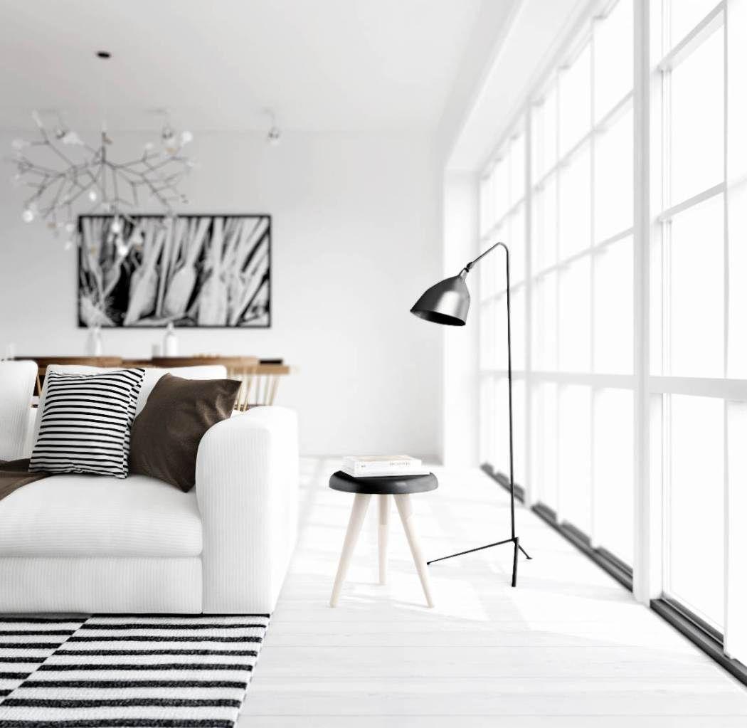 black and white - living / salon - noir et blanc