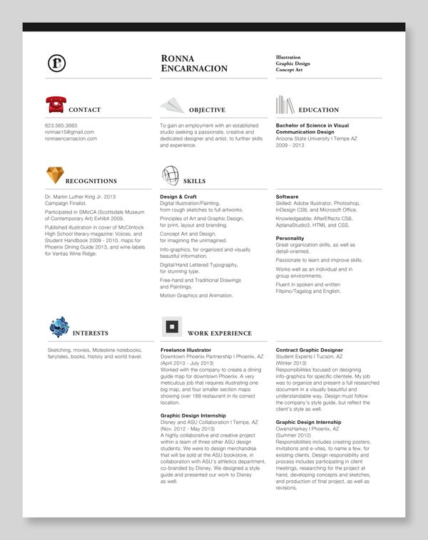 Personal Résumé By Ronna Encarnacion, Via Behance PERSONAL   Motion  Graphics Resume  Motion Graphics Resume