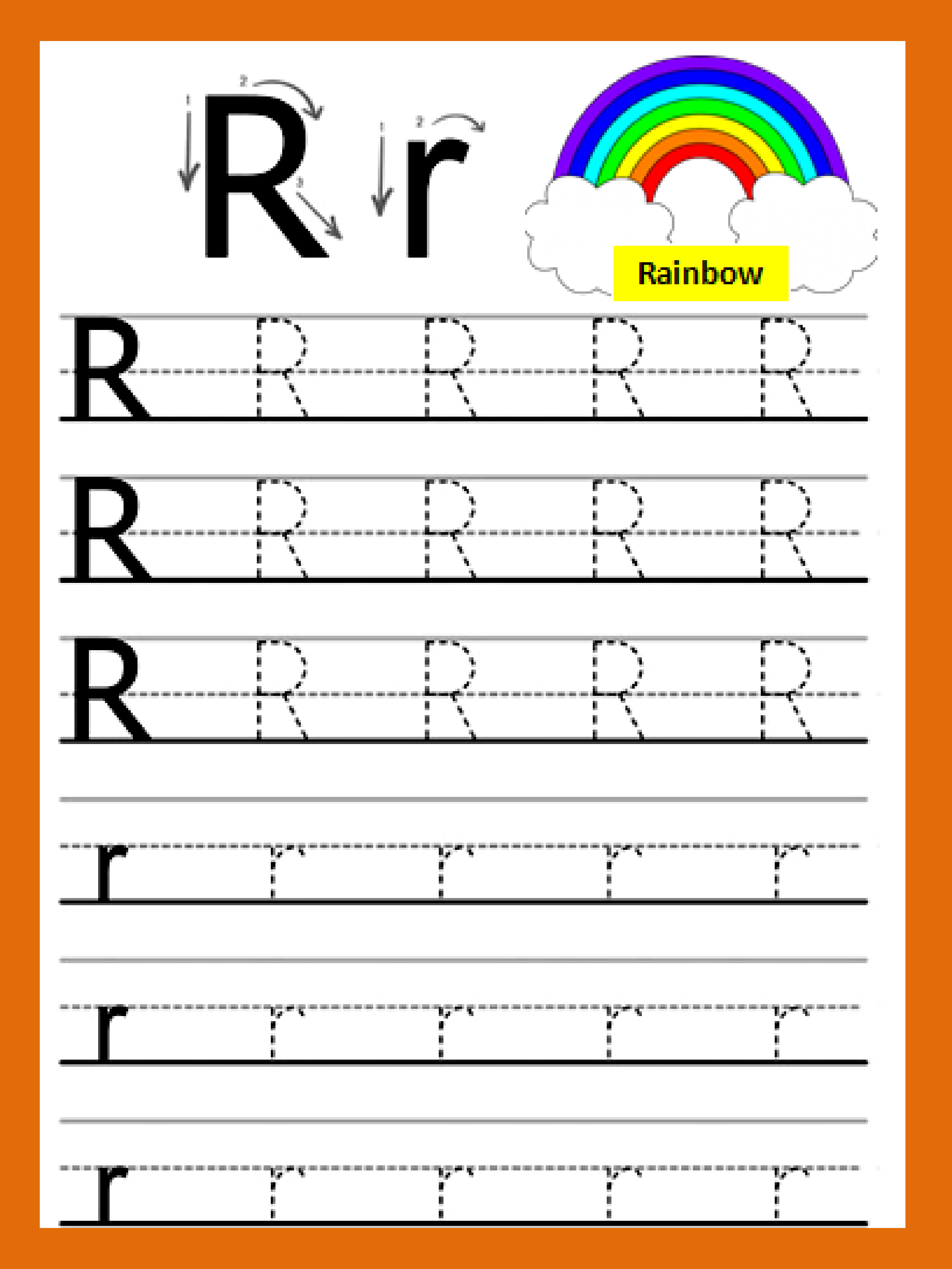 Letter Rr In
