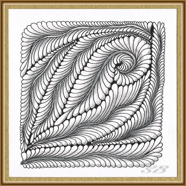 Quadrat Klein 102 Zentangle Zeichnungen Zentangle Designs Muster Malen