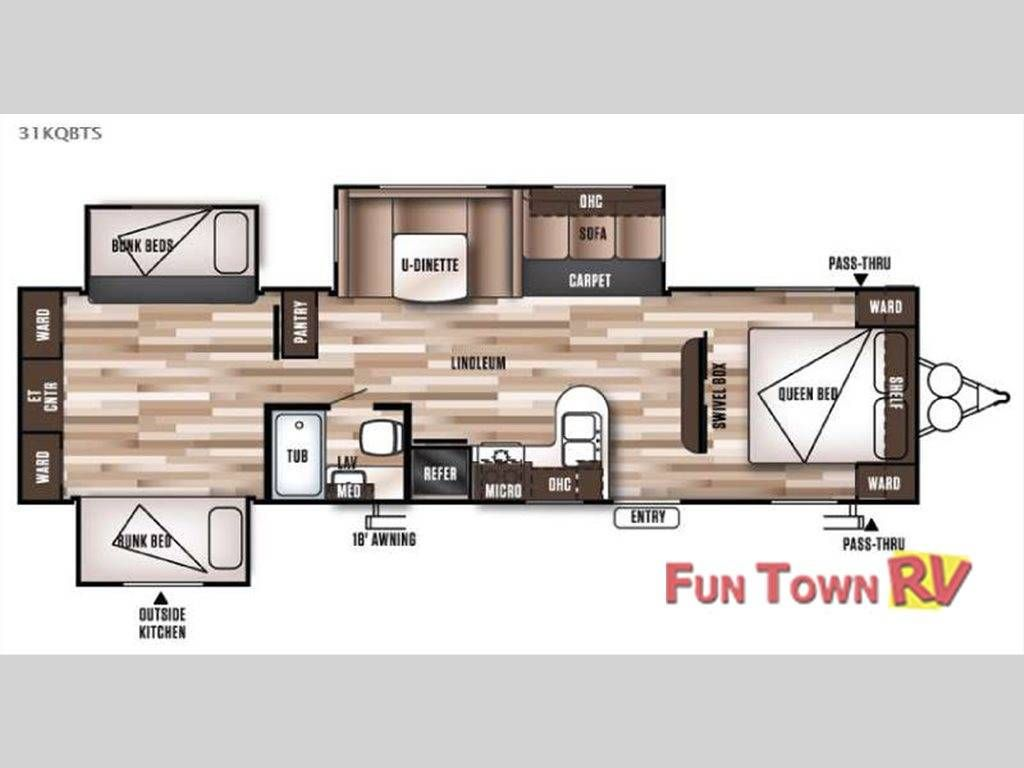 Check out this 2017 Forest River Rv Wildwood 31KQBTS