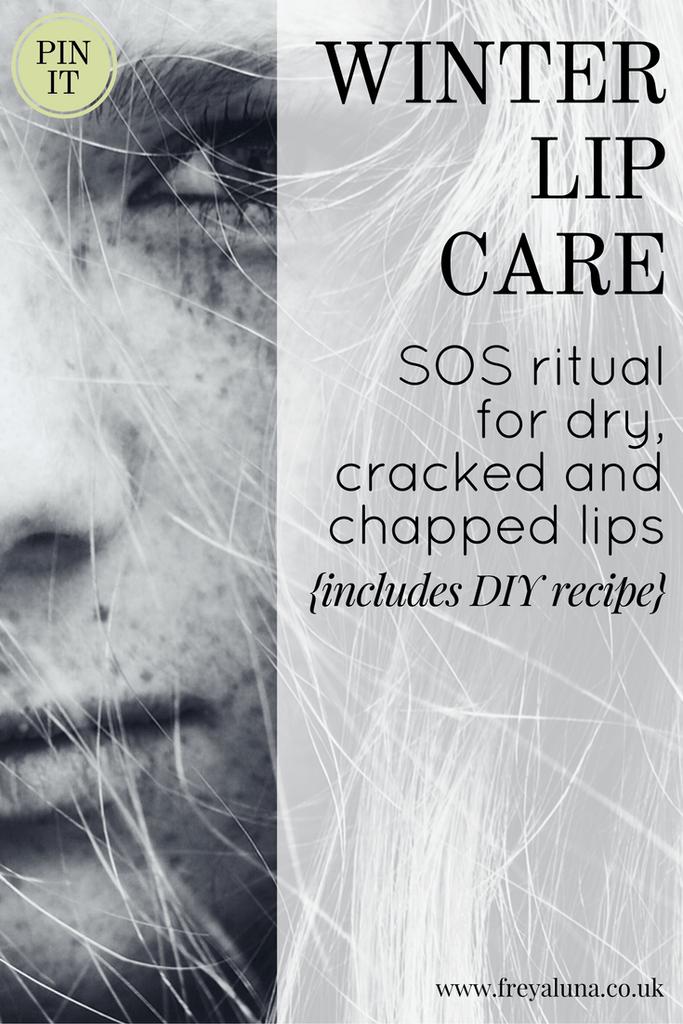 COLD WEATHER LIP CARE (a stepbystep ritual) Lip care