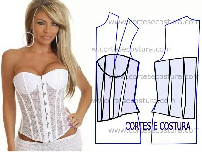 Pin by Lilly🌸 on Corte y costura | Pinterest | Corset, Corset ...