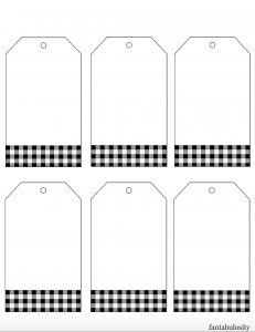 Impeccable image with blank gift tags printable