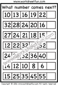 Number Patterns – Number Series – What number comes next? – 1 ...