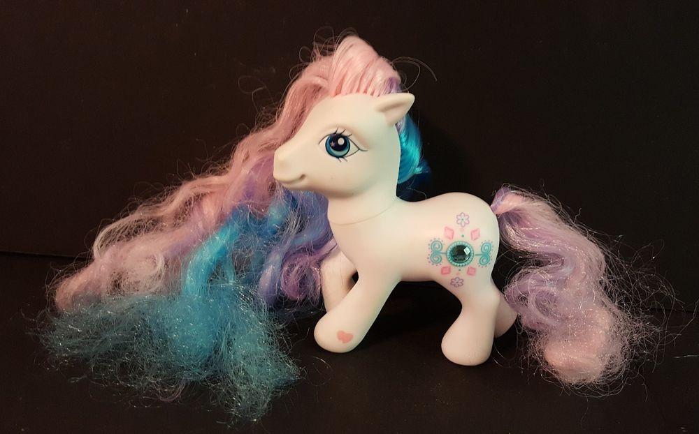 2005 my little pony precious gem super long hair fancy