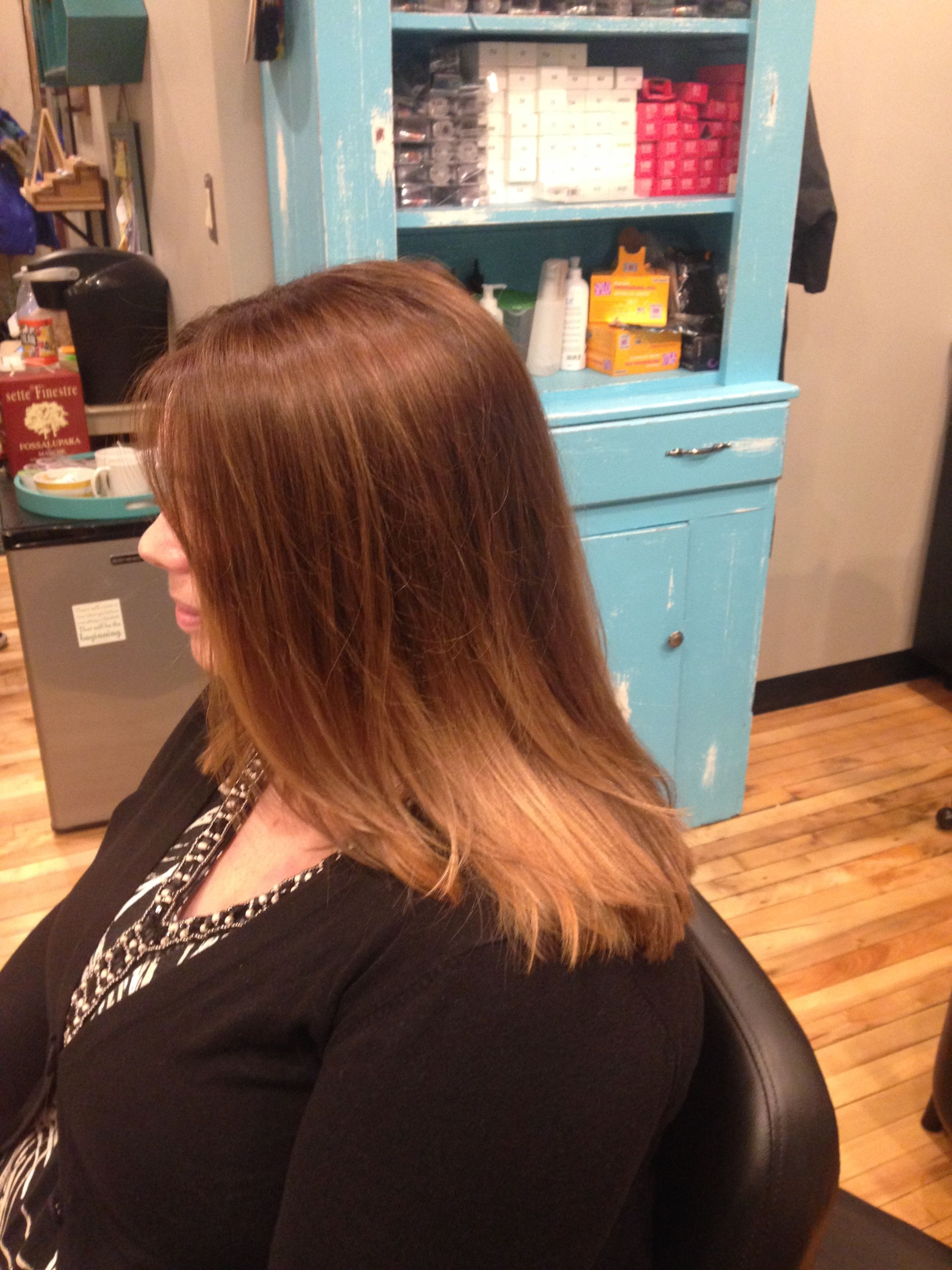 Lived in balayage highlights and hair cut by Kellyn at Bow & Arrow ...