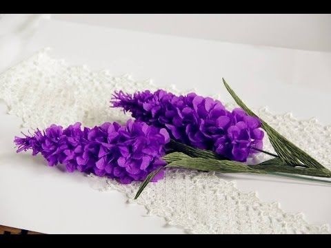 Tutorial Lavender Flower Paper Flower With Crepe Paper Craft