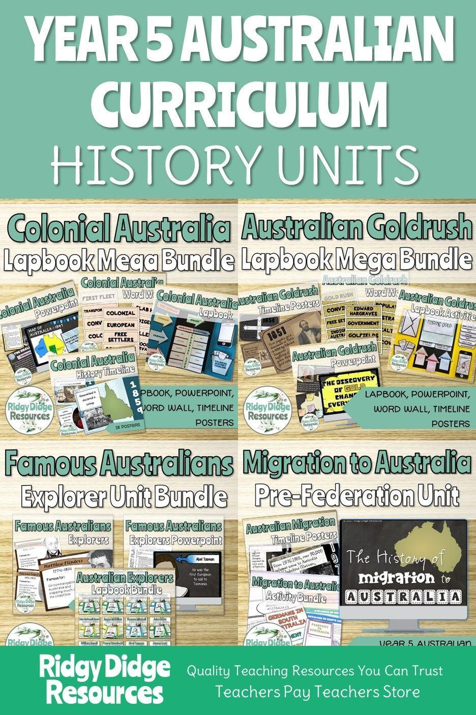 Complete Australian Curriculum Year 5 History Units Bundle