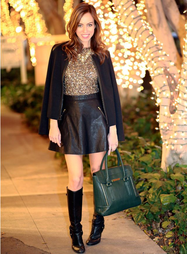 Sydne-Style-how-to-turn-a-dress-into-a-top-leather-skirt-a-line ...