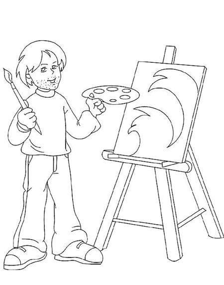 Meslekler Boyama Sayfasımeslekler Sanat Etkinliğispiker Boyama