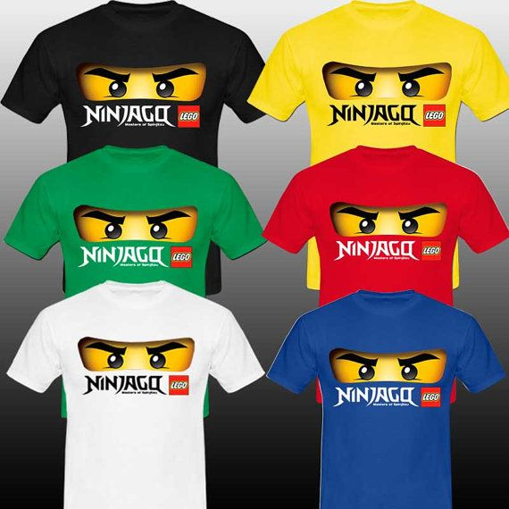 Ninjago green face logo lego black tshirt by tukustore on - Lego ninjago logo ...