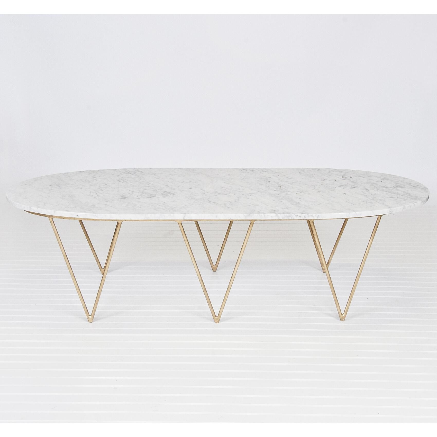 worlds away surf coffee table with white marble top | surf coffee
